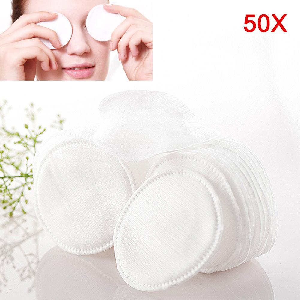 50/100pcs Round Premium Cotton Pad Cosmetic Makeup Swab Pad Wipes Face Cleaning Makeup Remover Cleaning