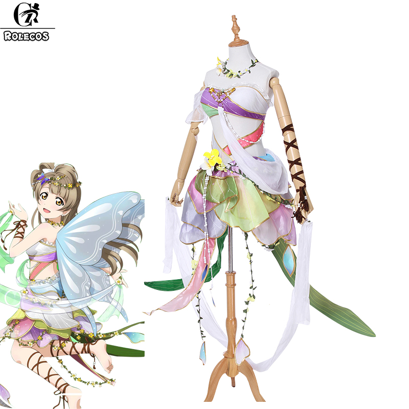 Rolecos Love live Cosplay Game Costume Minami Kotori Cosplay The Series of Awakening Flower Elves Costume All Team Anime Nico lepin 30017 505pcs elves series the aira