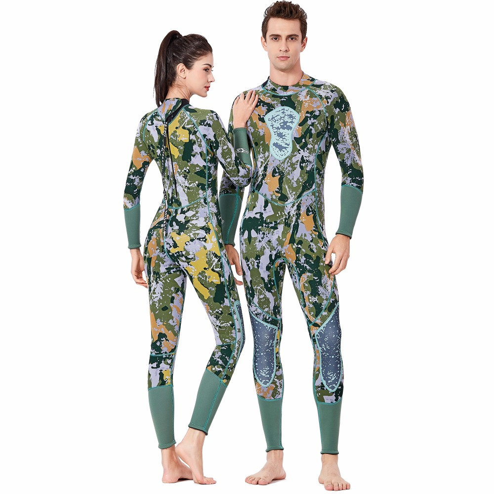 DIVE & SAIL Camouflage Men Women 3MM Wetsuit Underwater Hunting Fish Suit Close-body Neoprene Wetsuit For Scuba Diving Surfing