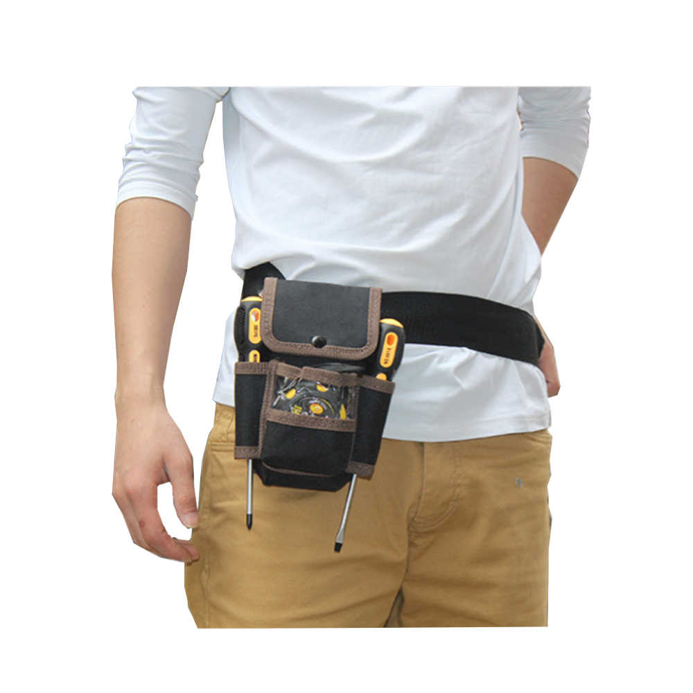 1pcs Electrician Oxford Cloth Waist Pocket Tool Bag Utility Tools Holder Woodworking Carpenter Belt Bag Organizer Toolkit