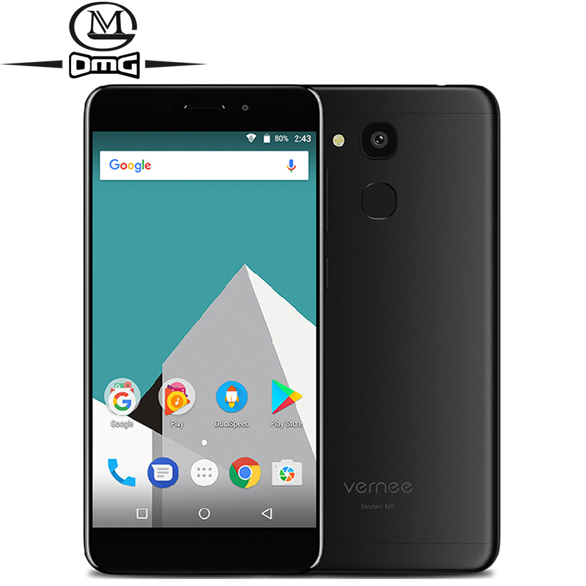 """Vernee M5 Android 7.0 4G Smartphone 4GB RAM 64GB ROM 5.2"""" HD Octa Core 13MP Fingerprint 6.9mm metal body mobile Cell phone"""