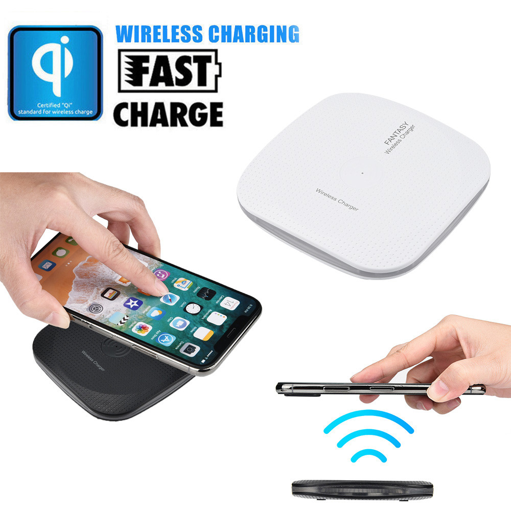 portable mini acrylic qi wireless charger charging pad mat. Black Bedroom Furniture Sets. Home Design Ideas