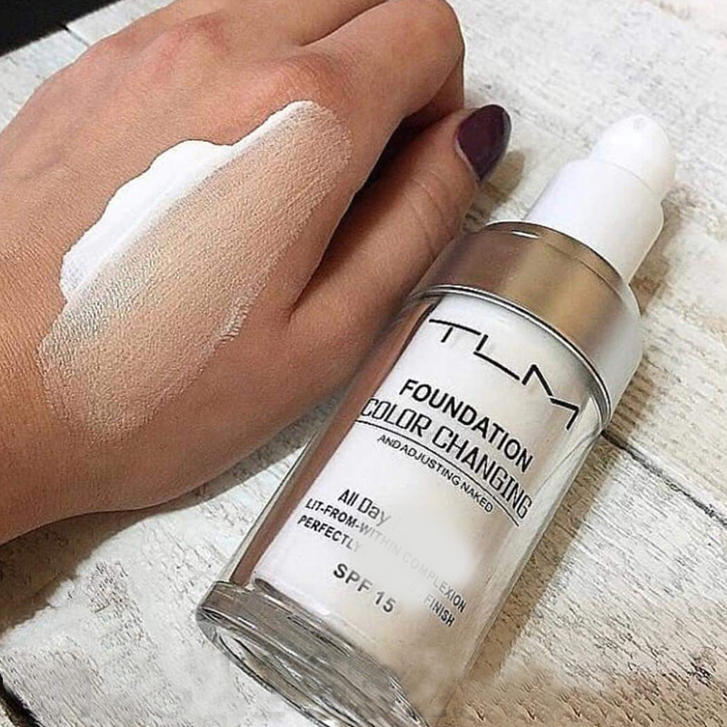 New arrival TLM Color Changing Liquid Foundation 30ml Makeup intelligent pepair skin whitening concealer waterproof drop ship image