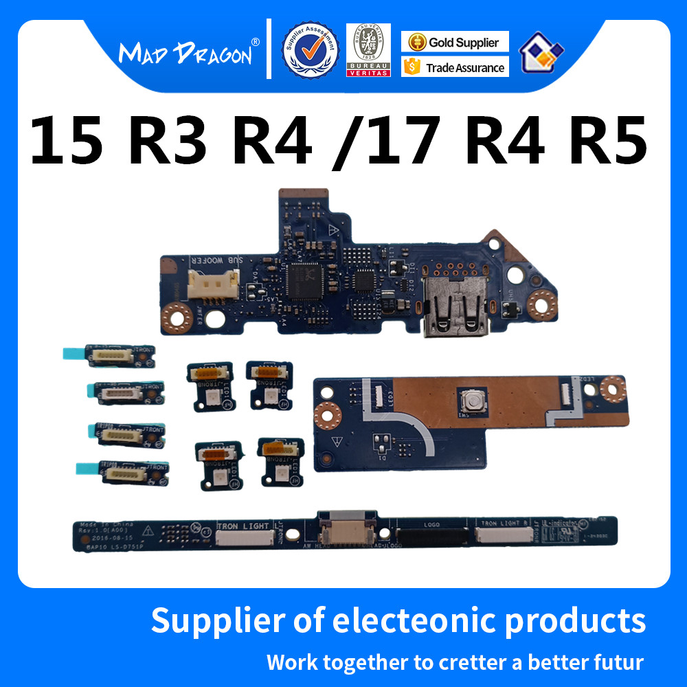 Cheap Sale Mad Dragon Brand Laptop New Power Button Circuit Usb Port Io Circuit Board Led Logo Board For Dell Alienware 15 R3 R4 17 R4 R5 Regular Tea Drinking Improves Your Health Computer & Office