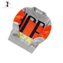 2016 Gray Navy Autumn 2 Colors Knitted Boys Sweater Infantil Pull Enfant Ropa Ninos Kids Clothes 2392