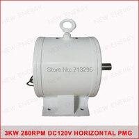 3kw 280 об./мин. 120vdc низких оборотах горизонтального ветра и гидро генератор/постоянный магнит сила воды dynamotor гидро