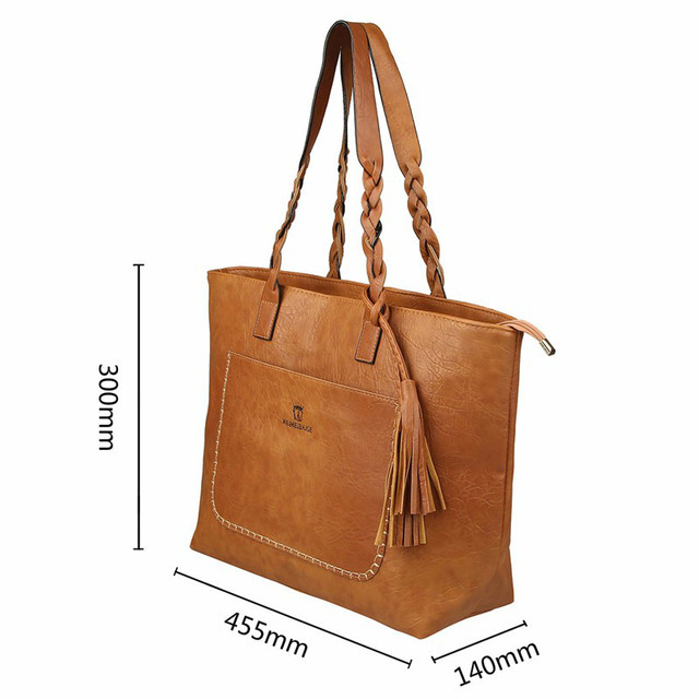 XLY&R Famous Brand Leather Handbag Bolsas Mujer Large Vintage Tassel Shoulder Bags Women Shopping Tote Purse sac a main 4