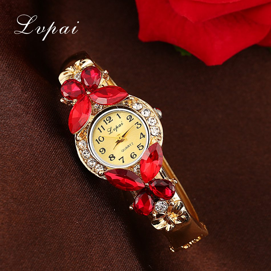 Lvpai Watches Women Fashion Rhinestone Butterfly Watch Bracelet Watch Wristwatch Cheap Electronic Clock Women Dress Watches ножемир н 222 нескладной