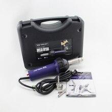 Pakiet sprzedaż gorąca wiatrówka Weldy HT1600 dla PP PE pcv z tworzywa sztucznego zestaw do spawania okrągły trójkąt typu