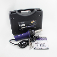 חבילה מכירה חמה אוויר אקדח Weldy HT1600 עבור PP PE PVC פלסטיק ריתוך ערכת עגול משולש סוג