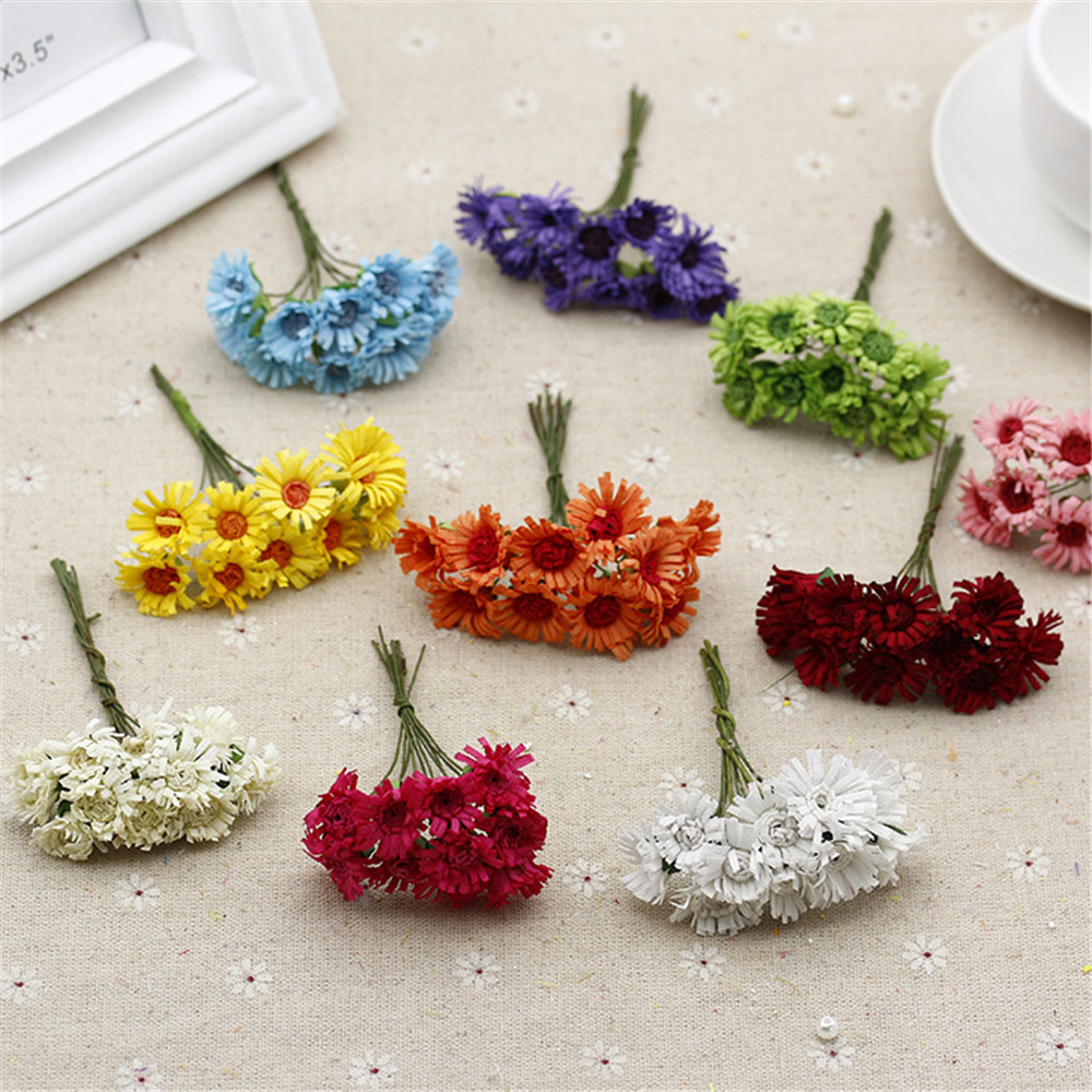 2016 10 Pcs Silk Mini Cute Artificial Cartoon Daisy Flower For