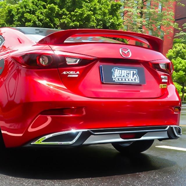 Mazda 3 Axela 2017 >> For Mazda 3 Axela 2014 2017 Rear Bumper Diffuser Bumpers Lip