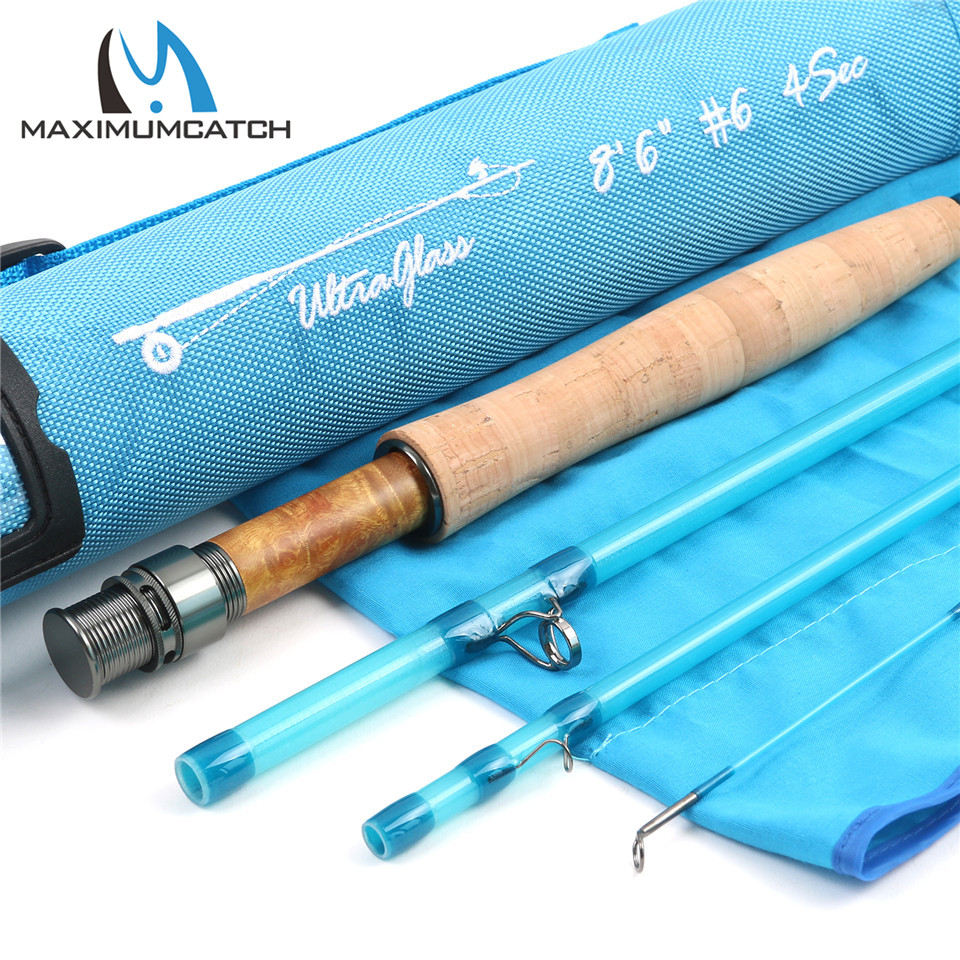 Maximumcatch transparent fiberglass fly fishing rod with for Fishing rod tubes