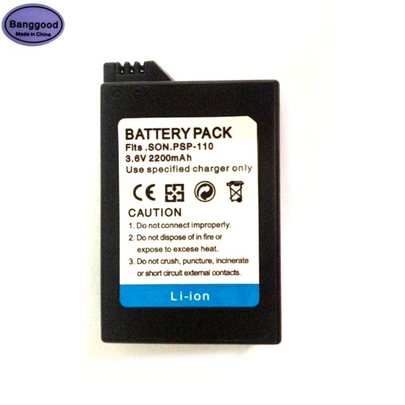 3.6V 2200mAh PSP-110 PSP110 Camera Battery Replacement For Sony Playstation Portable Electronic PSP-110 PSP-1001 PSP 1000 1004 image
