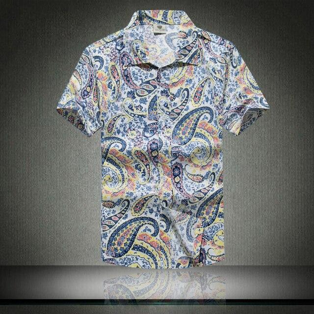 7bd1ad660 2018 Fashion Mens Short Sleeve Hawaiian Shirt Fast drying Plus Size Asian  Size M-5XL
