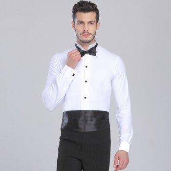Men Latin Dance Shirts Top For Ballroom Dancing Salsa Tango Standard Performance Competition Costumes