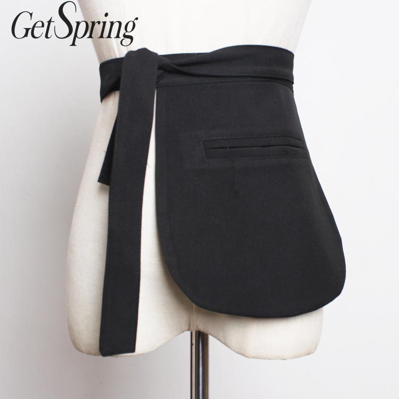 GetSpring Women Belt Cummerbund Vintage Wide Women Cummerbund Lace Up Wide Belt All Match Plaid Waist Corset Belt Fashion Corset