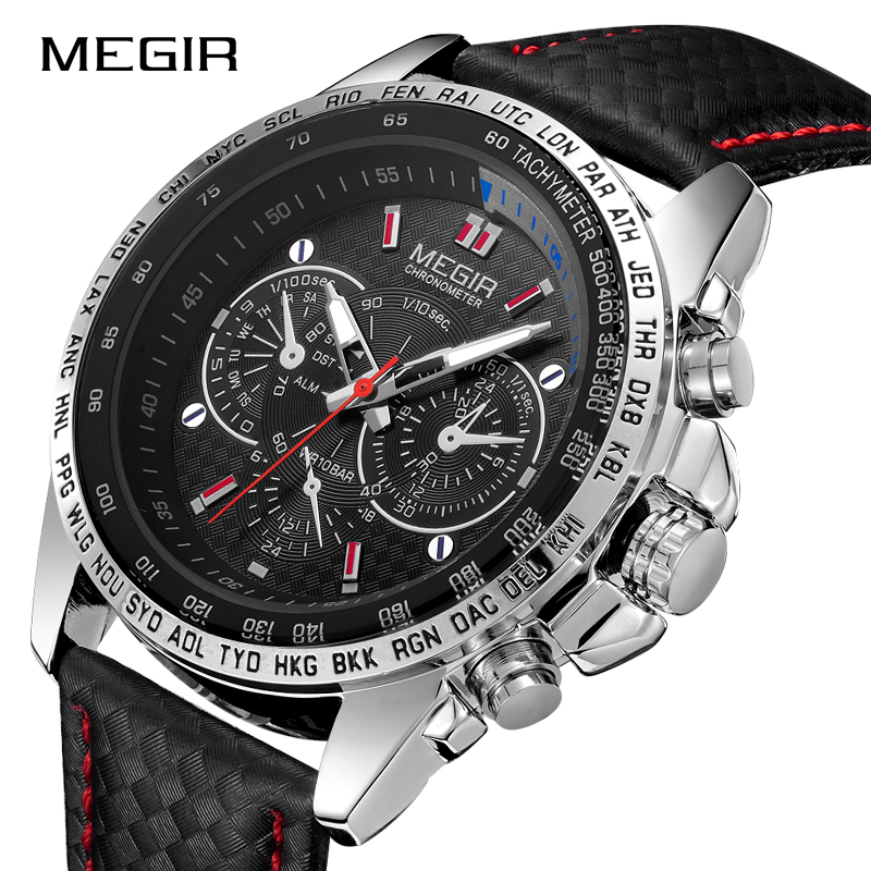 MEGIR Fashion Men Sports Watches Luxury Brand Quartz Wristwatches Man Military Waterproof Watch Hot Sale Clock Relogio Masculino