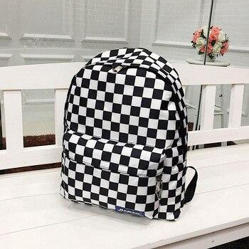 Dámsky čierno-biely módny batoh Lessie