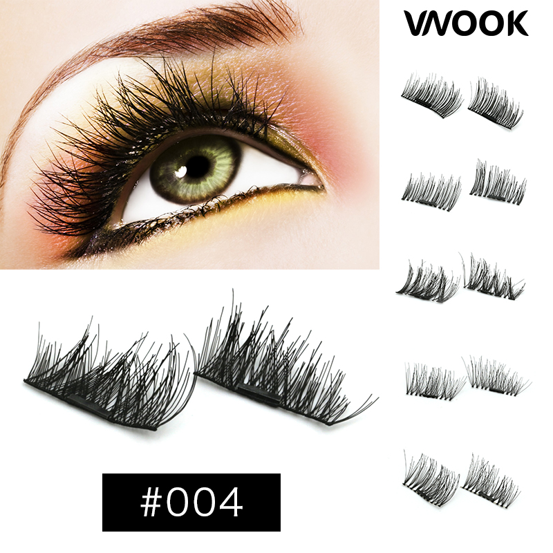 4 Pcs/Pair Magnetic Eyelashes Extension Tools Eye Beauty Makeup Accessories Soft Hair Magnetic Eyelashes 3d mink strip lashes