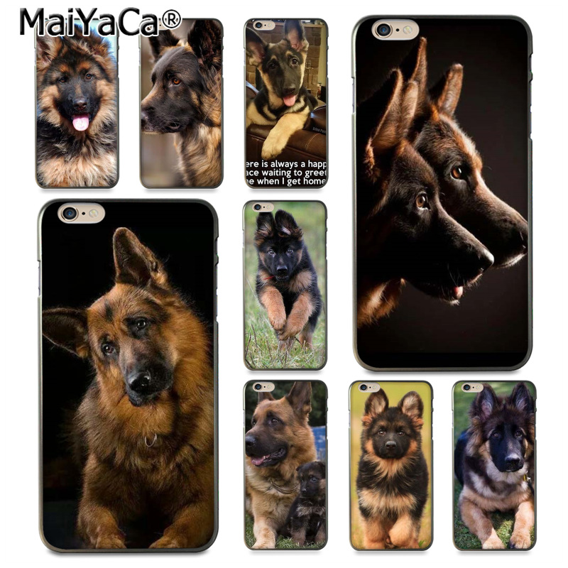 MaiYaCa German Shepherd Dog DIY Painted Beautiful Phone Accessories Case for