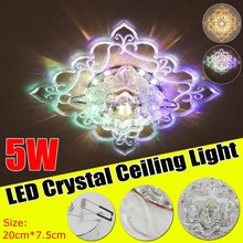 200mm x 75mm Modern LED Crystal Ceiling Light Lighting Fixture Lamp 110-240V Ceiling Lamp for Living Room Aisle Decoration(China)