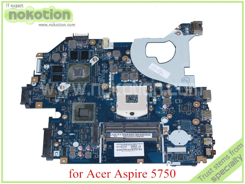 NOKOTION P5WE0 LA-6901P MBRCG02004 MB.RCG02.004 for acer aspire 5750 5750G motherboard GeForce GT540M DDR3 nokotion z5wae la b232p for acer aspire e5 521 laptop motherboard nbmlf11005 nb mlf11 005 ddr3