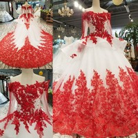 На заказ Лидер продаж с длинными рукавами свадебное платье vestido de noiva бальное платье Свадебные платья 2019 королева свадебное платье robe de mariée