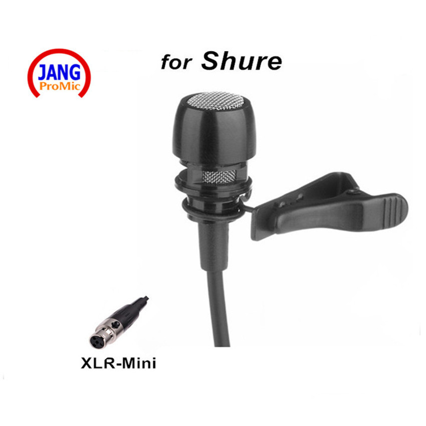 professional quality black lapel condenser microphone lavalier microfone for shure wireless. Black Bedroom Furniture Sets. Home Design Ideas