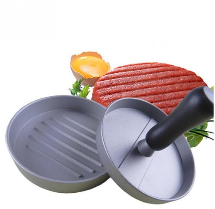 Hamburger Press Aluminum Alloy 12 Cm Hamburger Meat Beef Grill Burger Press Patty Maker Mold 1 Set Round Shape