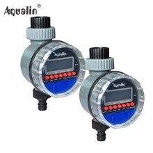 2 unids Electronic Display LCD Hogar Sistema Controlador de Temporizador Temporizador de Riego de riego del Jardín de Agua Válvula de Bola #21026-2