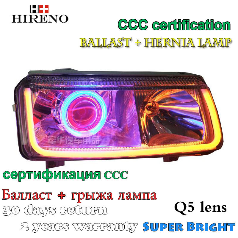 Hireno Modified Headlamp for Volkswagen Jetta 1999-2003 Headlight Assembly Car styling Angel Lens Beam HID Xenon 2 pcs