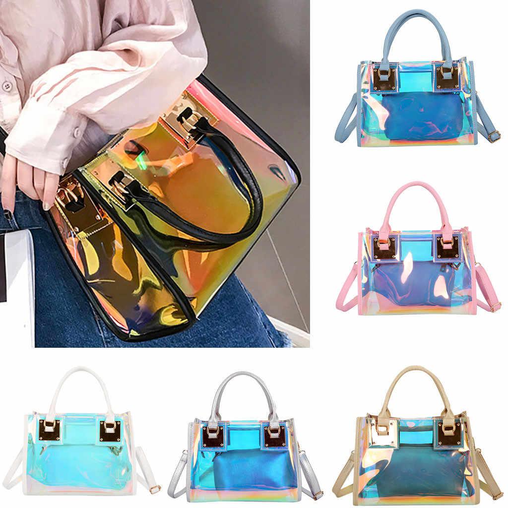 Bolsos multifunción de Color para mujer 2019 nuevo bolso transparente de PVC para mujer bolso de mensajero bolso de hombro bolso de mujer