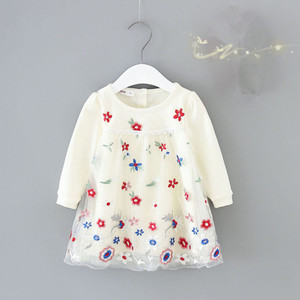 Image 3 - Vestidos de niña, manga acampanada, flores bordadas, vestido de baile para niños, ropa de fiesta de boda, vestido de Navidad para niños