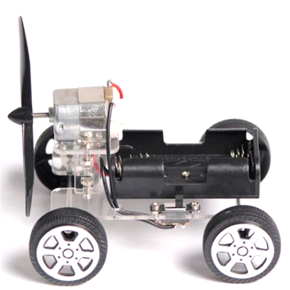 DIY Puzzle Mini Wind Car Child Educational Toy 130 Brush Motor Robot For Students Technology Creativity Training Learning