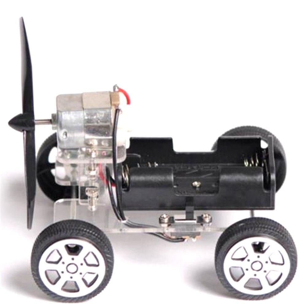 DIY Puzzle Mini Wind Car Child Educational Toy 130 Brush Motor Robot For Students Technology Creativity Training Learning