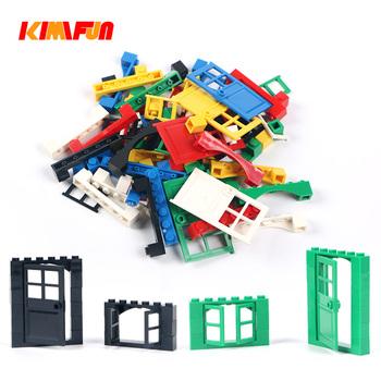 102 sztuk drzwi i okna cegły DIY budowa domu bloki cegieł zabawki miasto architekt dla dzieci edukacyjne kompatybilne z Legoings tanie i dobre opinie KIMIFUN 1180189 none Unisex 6 lat Z tworzywa sztucznego Samozamykajcy cegły