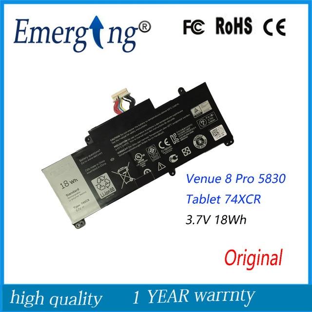 3.7 V 18Wh Nuova Batteria forDell Venue 8 Pro 5830 Tablet 74XCR