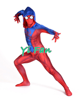 New Ben Reilly Spiderman Suit 3D Print Spandex Game Spider Cosplay Suit Halloween Cosplay Spider man Costumes Free Shipping