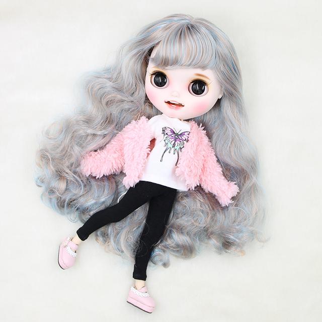 Factory Neo Blythe Doll Gümüş Mavi Saçlar Birləşdirilmiş Bədən 30cm