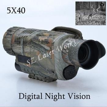 Camouflage numérique monoculaire infrarouge vision nocturne lunettes 5X40 vision nocturne portée prend des Photos vidéo avec TFT LCD pour la chasse