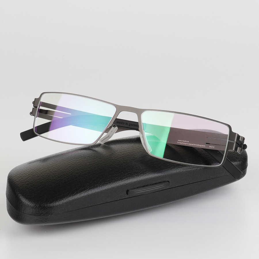 d8fc1c8535 ... High quality IC Germany Unique No screw Design Brand Eyeglasses Frames  Ultra Light Ultra thin Men ...