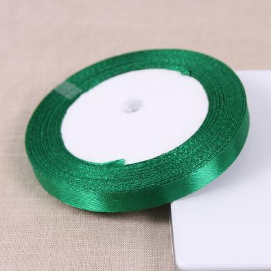 Рулон 25 ярдов атласные Ткань лентой Свадебные украшения дома зеленый полиэстер Ленты подарок Cake Box Обёрточная бумага ручной работы DIY Интимные аксессуары