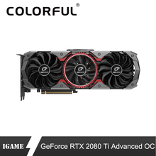 Colorful RTX 2080Ti Advanced OC Graphic Card 2080 ti 11G Nvidia Turing GPU GDDR6 1635MHz For PC Gaming GeForce Video Cards