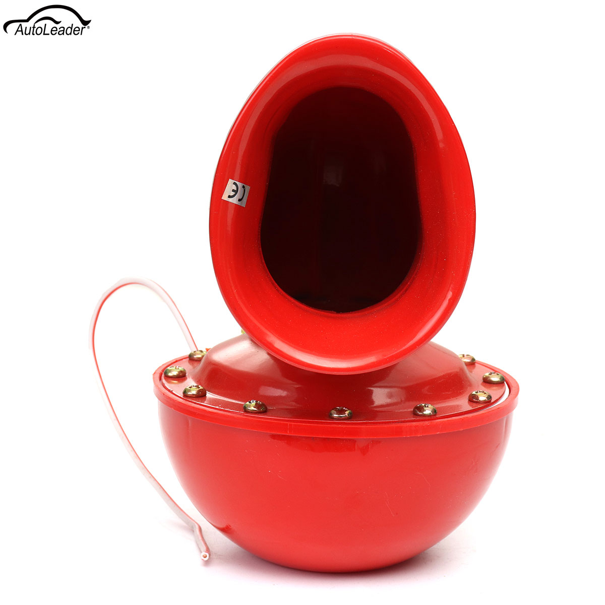 12V Metal Red Electric Bull Horn Super Loud Snail Air Compressor Horn Trumpet Heavy Duty Siren 115 dB for KAMAZ Car Truck Lorry