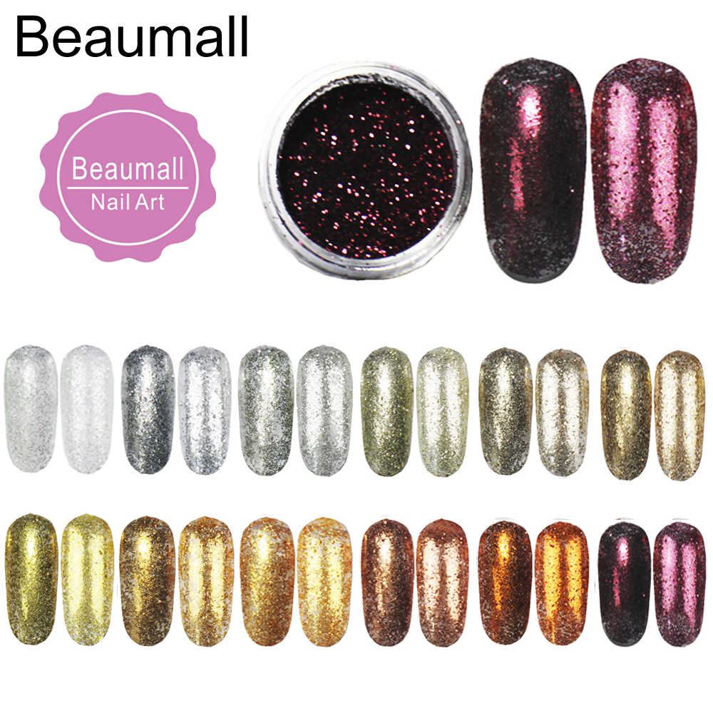 2.5g/pot, 0.2mm (1/128 008) Metallic Regular Color Glitters Acrylic Dazzling Glitters Dusts For Nail ,Tatto Art Decorations