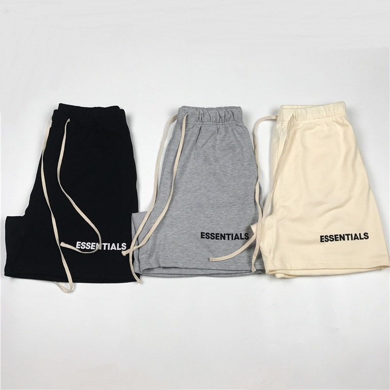Justin Bieber Lettering Terry Track Shorts Graphic Pattern Cotton Sweat Shorts Long Drawstring Cord Three Pockets Styling