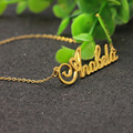 Pure 925 Solid Silver Name Pendant Jewelry Custom Nameplate Necklace Christmas Gift Wholesale Factory