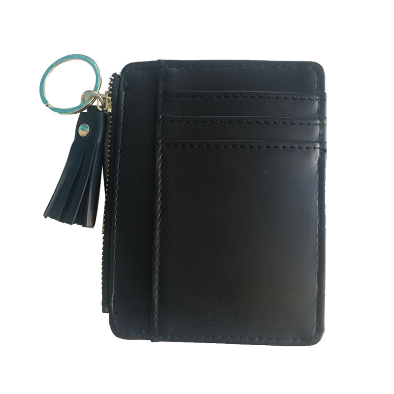 Slim Wallet Fashion Card Holder Short Bag 2019 Small Pu Leather Credit Card Holders Thin Tassel Zipper Wallets Coin Pocket Luggage & Bags