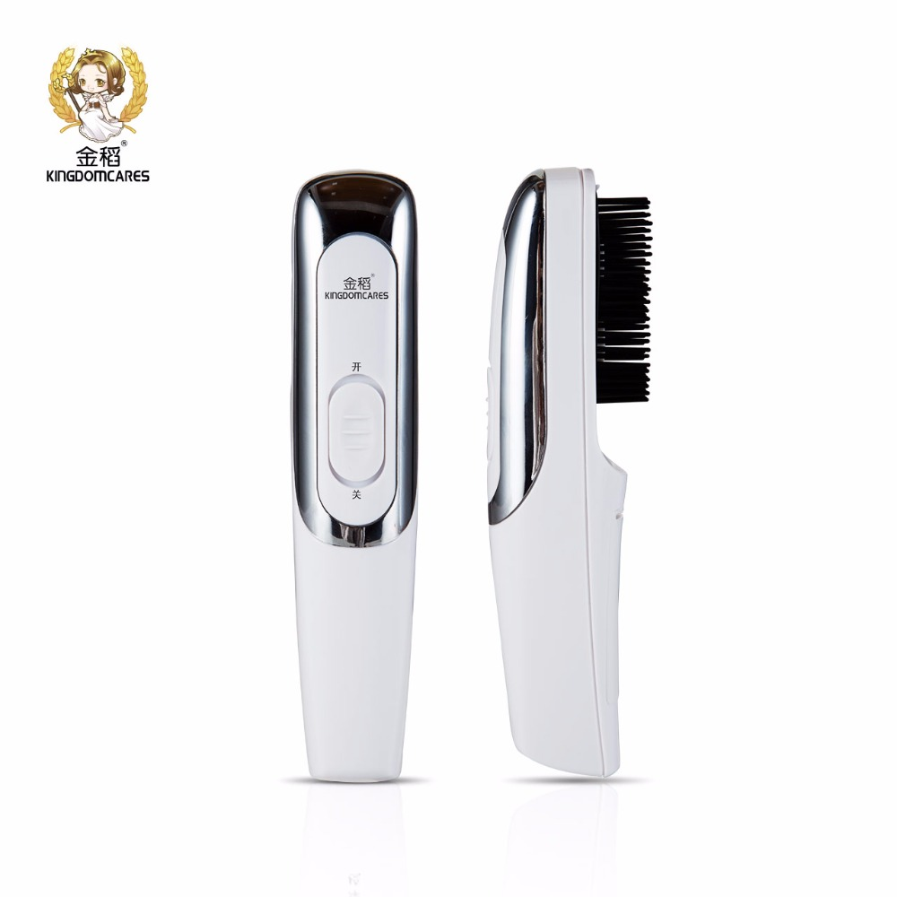 KINGDOM CARES Infrared Vibration Massage Laser Hair Care Head Brush Comb Electric Battery Growth Massager Tool Instruments 3801 laser comb head massager hair growth comb massage brushes head pain relife relaxation vibrating infrared laser hair cure